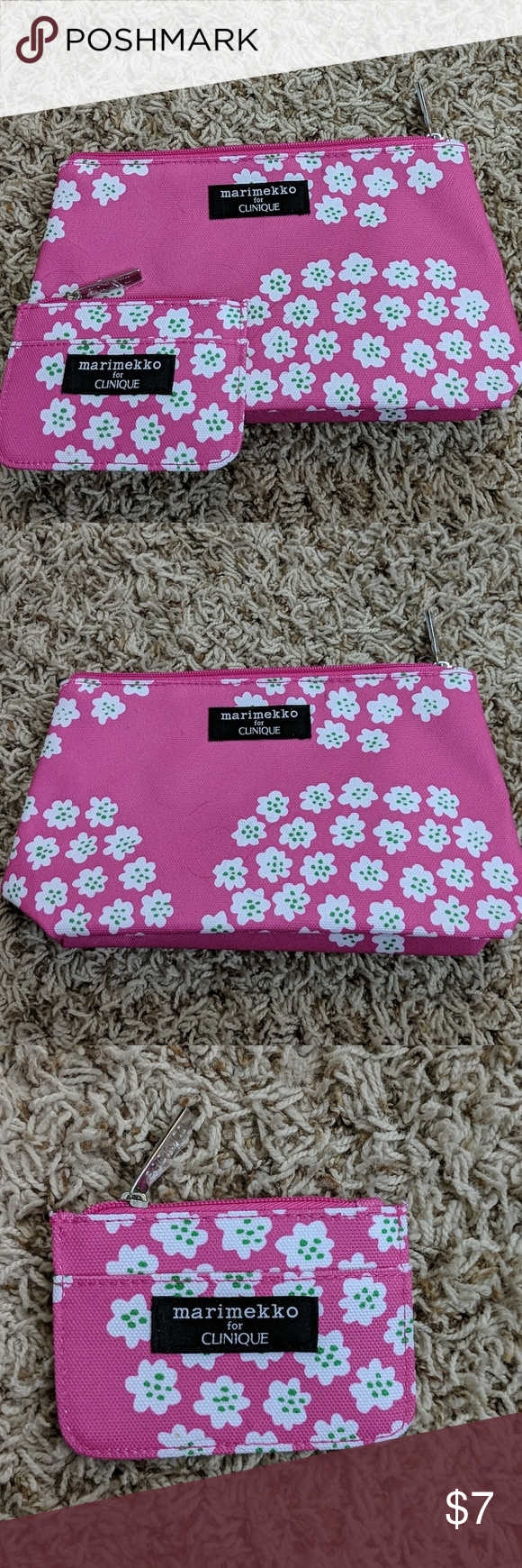 Marimekko For Clinique Pink Floral Makeup Bag Marimekko For