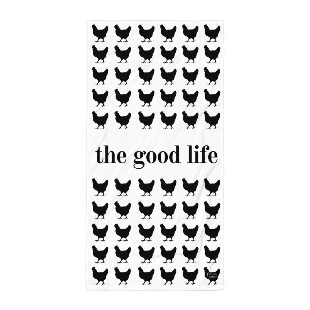 The Good Life Chicken Beach Blanket (*Seasonal Specialty Item*)