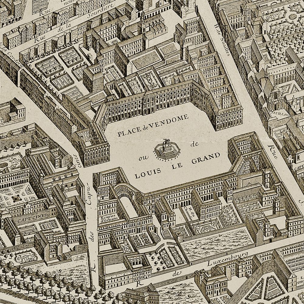 Place de Vendome | Typography | Paris map, Places, Map