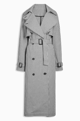 1eeddf3ec34 Buy Black White Check Trench Coat from the Next UK online shop ...