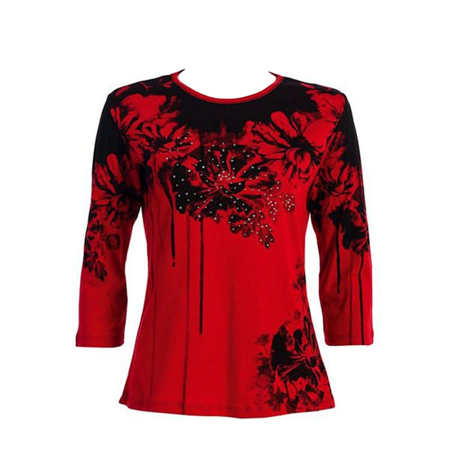Jess Jane Bouquet Top In Red 14739bk Ci186rs4kl0 In 2018