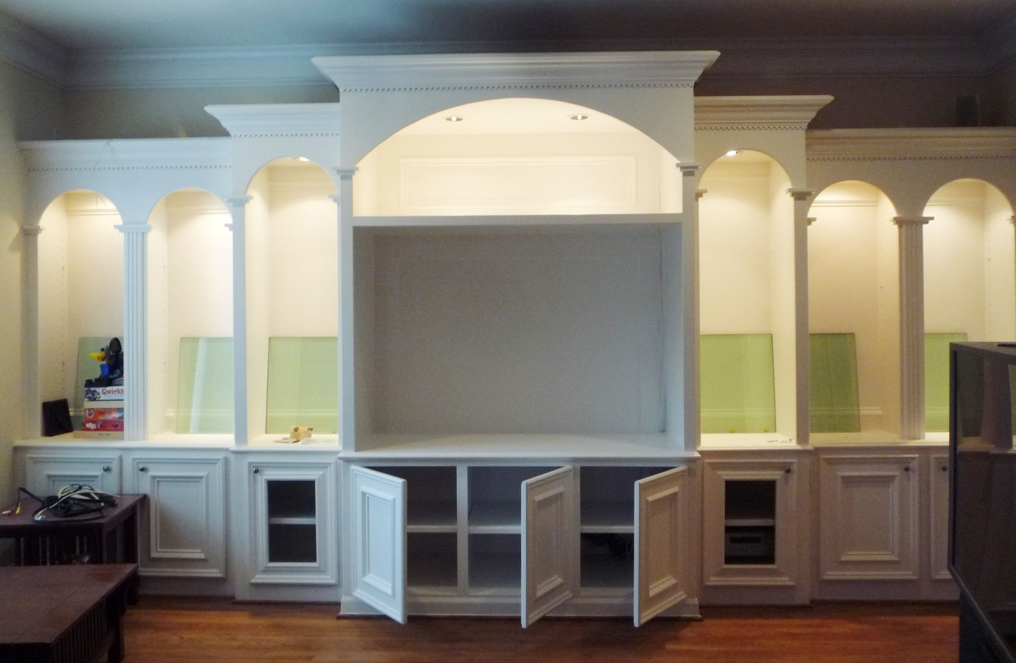 Built In Entertainment Center Cabinets Simple Roman