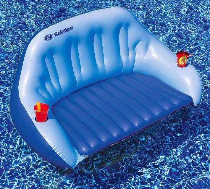 Convertible Duo Love Seat Float Love Seat Pool Storage