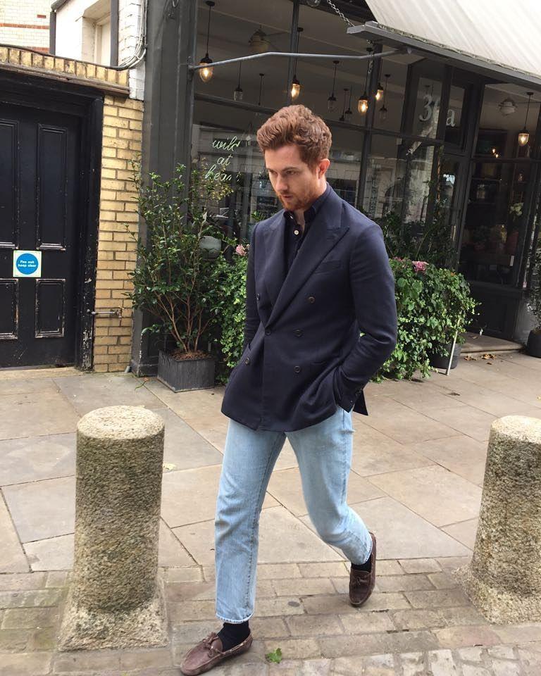 Lunch in Pimlico Navy sport coat, Stylish men, Men