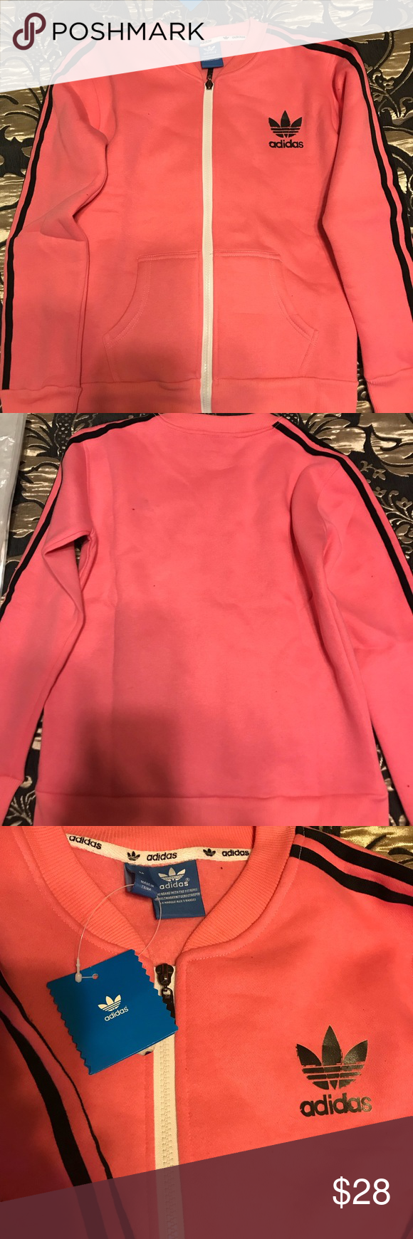 Pink Adidas Jacket NWT. Very comfy and warm. adidas Jackets & Coats
