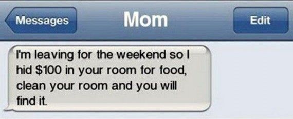 Funny text from Mom