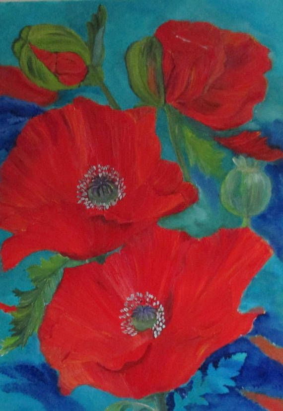 Poppy painting pink poppies flower painting original blumenbilder poppy painting pink poppies flower painting original mightylinksfo