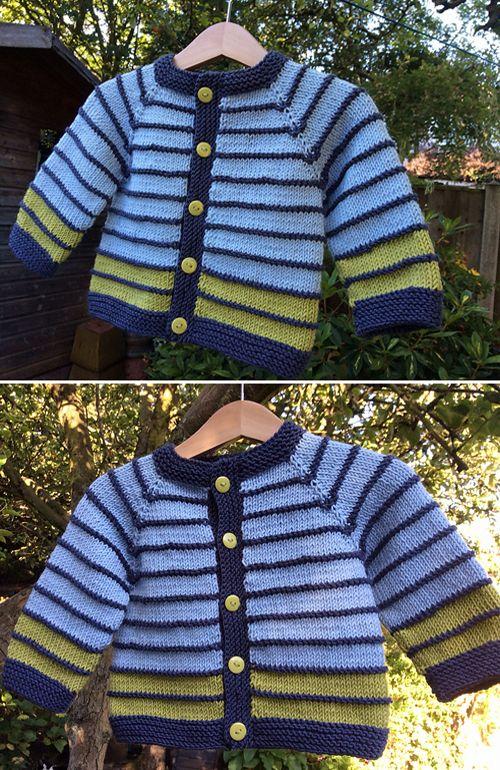 Photo of Fuss Free Baby Cardigan – Free Pattern