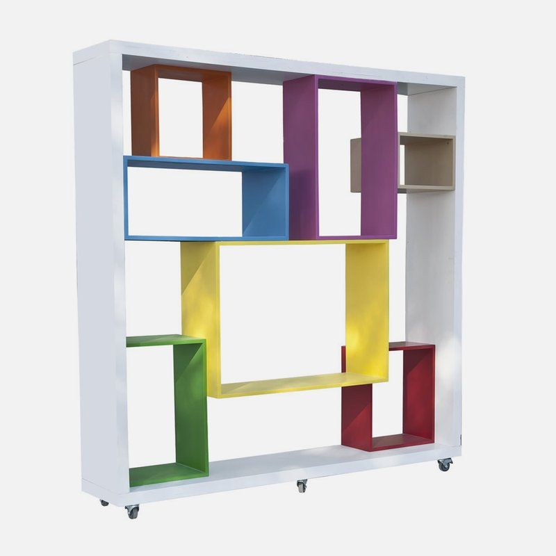 Furniture Fancy Colorful Mobile Bookshelf Contemporary Modular Shelving Units Attractive Modular She Modular Shelving Shelving Design Iconic Furniture Design