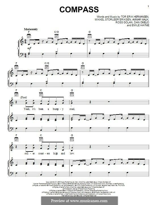 Compass Lady Antebellum For Voice And Piano Or Guitar By Ammar