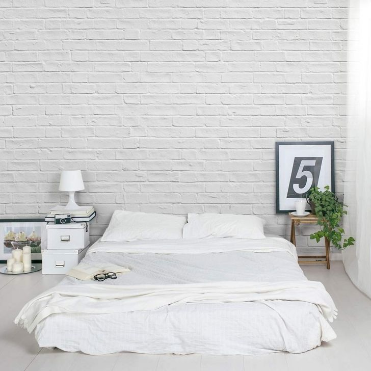 Wallpaper Bedroom Ideas White Google Search Brick Wall Bedroom Brick Interior Wall White Brick Wallpaper Bedroom