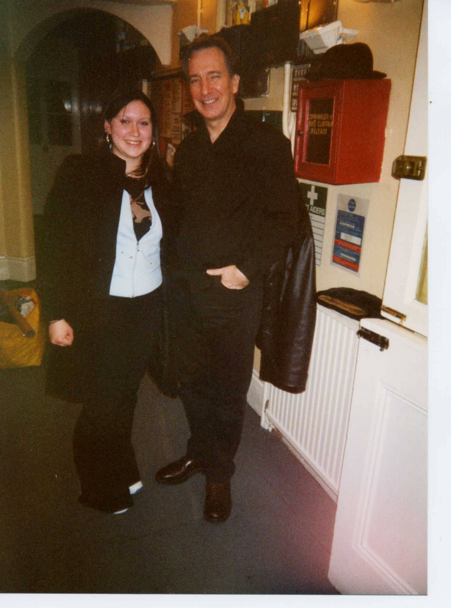 Alan Rickman Wife | My dad,his girlfriend and I set off to London ...