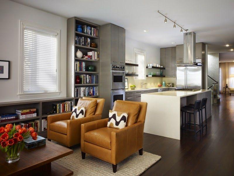 Cómo dividir una cocina de la sala - Colores en Casa | salón cocina ...