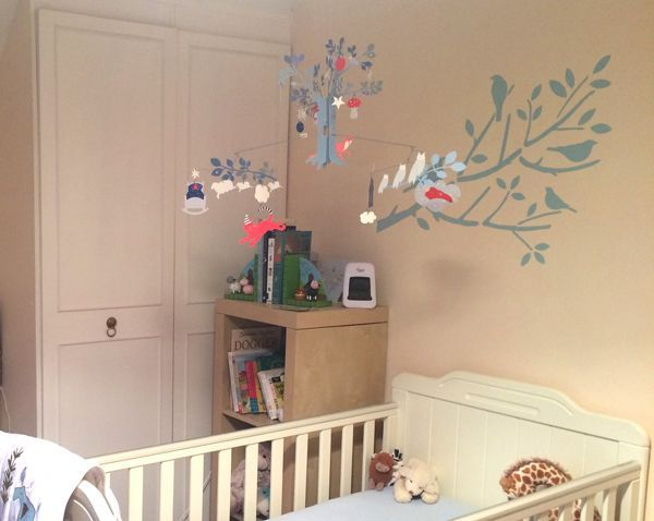 Nursery Stencils Birds On Tree Branches Paint Wall Decor With Our Reusable Decorating