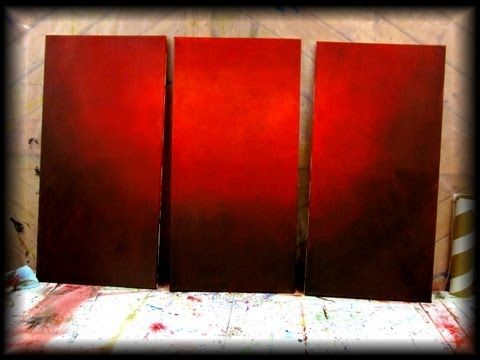 How to paint a vibrant red background - STEP by STEP - fast and easy - YouTube