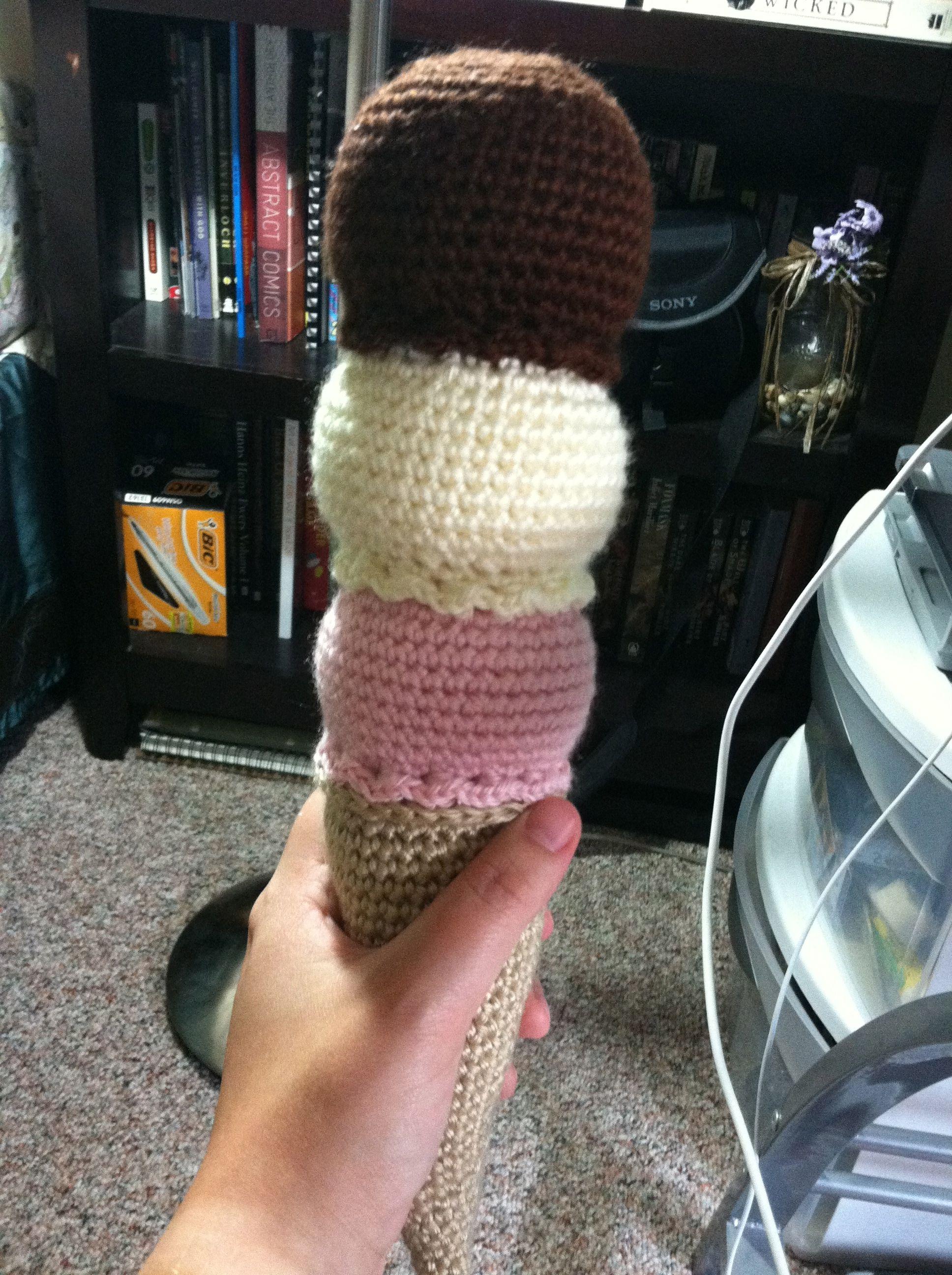 3 scoop ice cream cone crochet pattern ice cream cones food 3 scoop ice cream cone crochet pattern bankloansurffo Choice Image