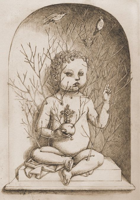 Madeline von Foerster, Drawing forResurrection,2008, 9 x 12 in,23 x 30 cm,Graphite on white paper