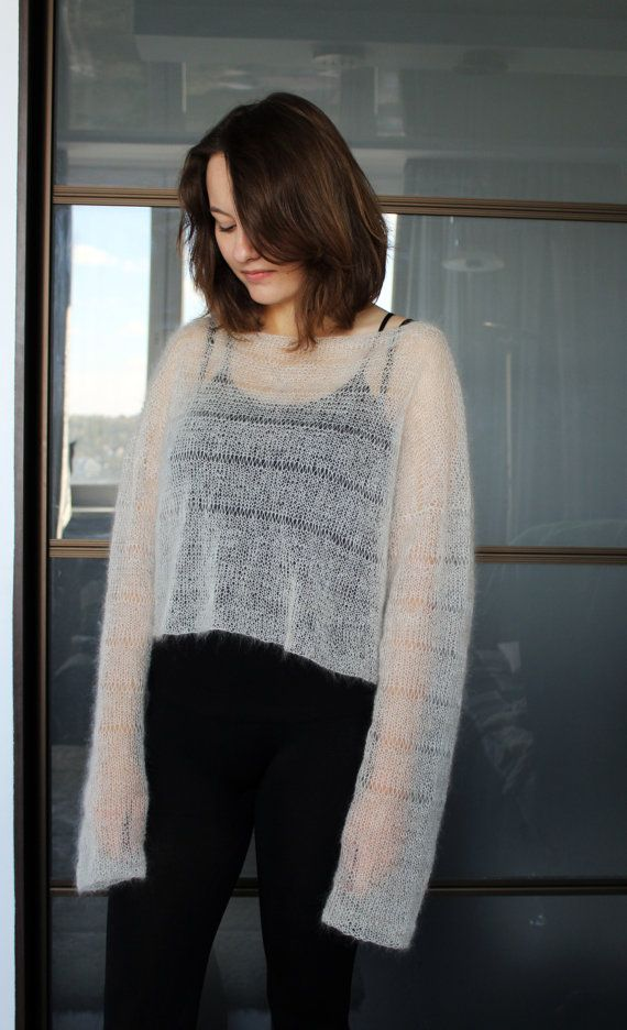 Loose knit soft mohair oversized summer sweater wedding ...