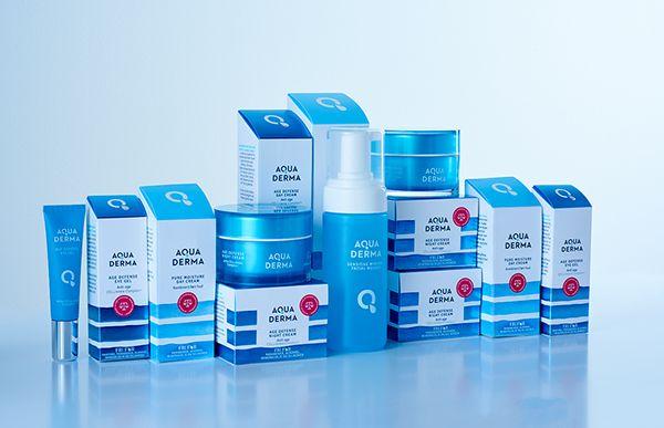AquaDerma skin care on Behance