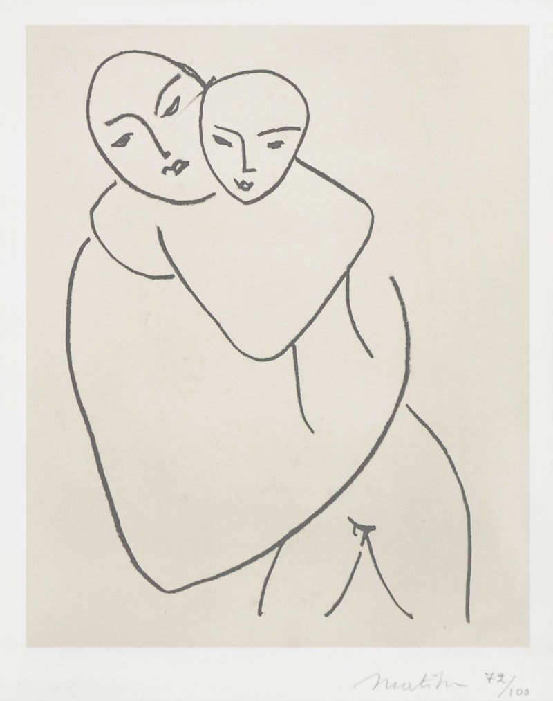 Vierge et Enfant (Madonna and Child) | From a unique collection of portrait prints at http://www.1stdibs.com/art/prints-works-on-paper/portrait-prints-works-on-paper/
