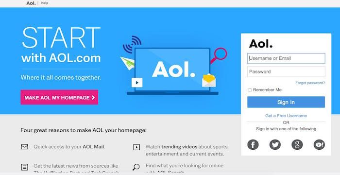 Aol Email Login Page Url With Images Aol Email Login Page