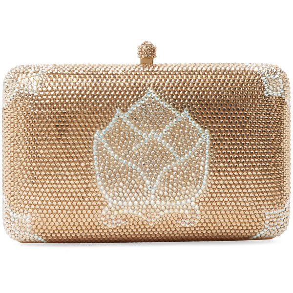 Sylvia Toledano Lotus Minaudière Found On Polyvore Featuring Bags Handbags Clutches Gold Brown Purse Chain