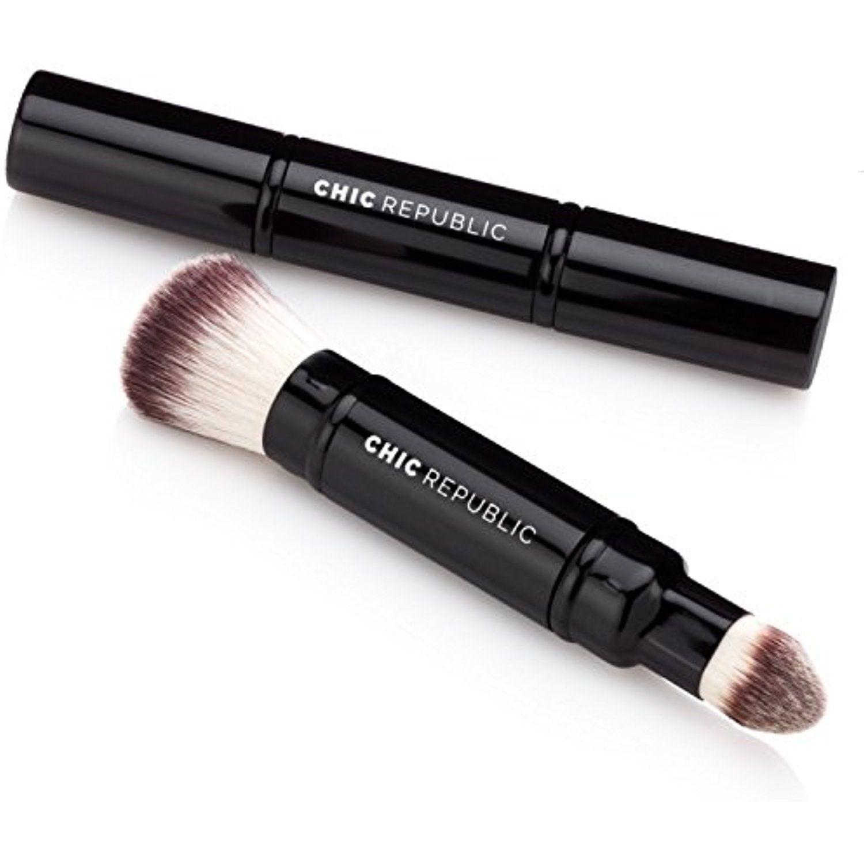 Premium Double Ended Retractable Kabuki Makeup Brush