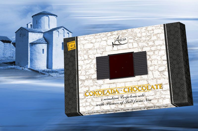 Adria chocolate with flower of salt from Nin