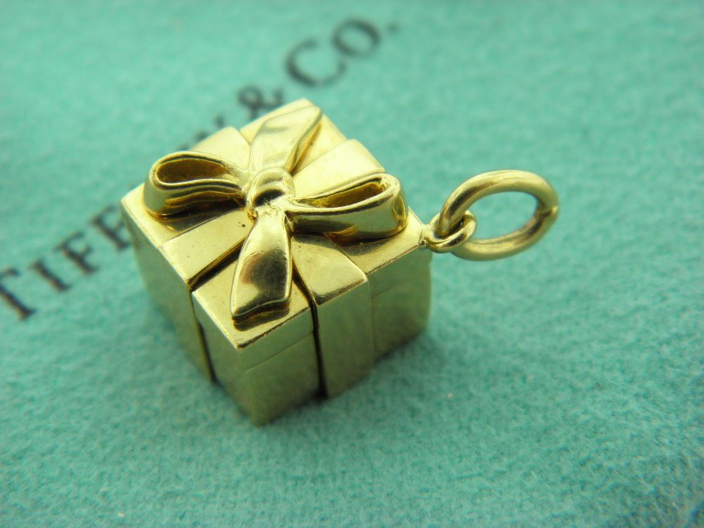 Tiffany & Co 18k Yellow Gold Box Charm TiffanyCo