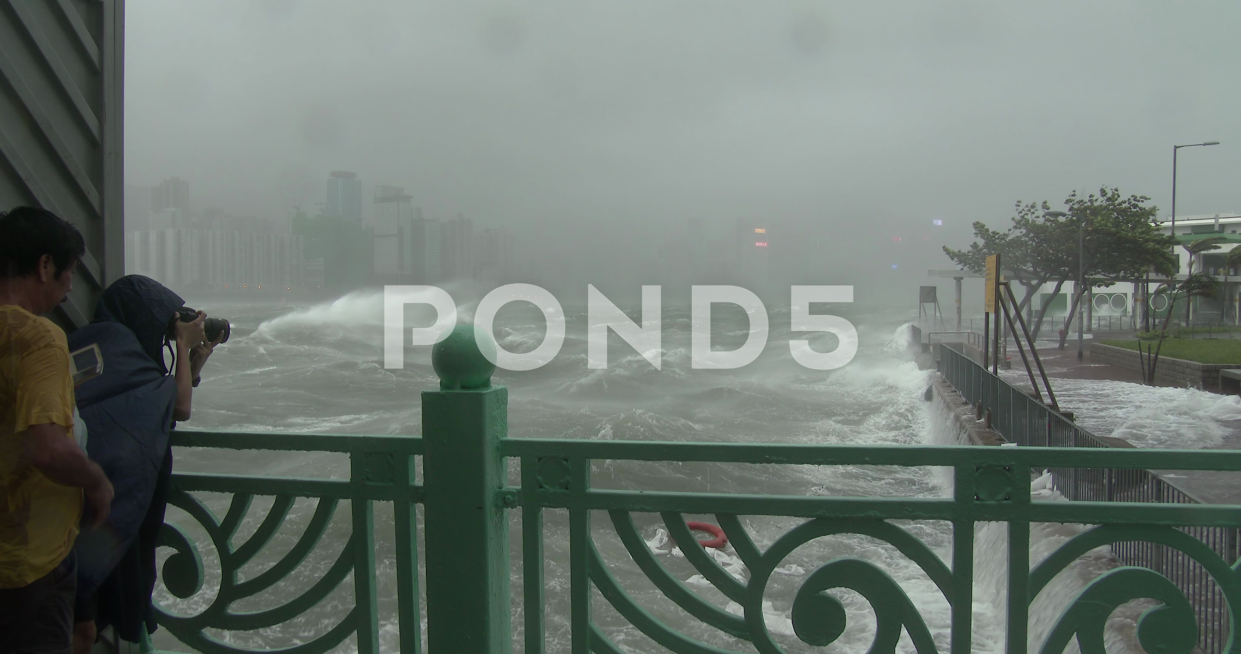 People Watch As Hurricane Wind And Waves Hit City Stock Footage Ad Hurricane Wind People Watch Hurricane Winds Waves City