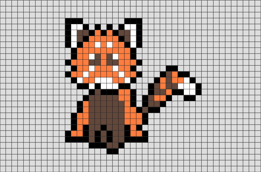 Red Panda Pixel Art Brik Pixel Art Designs Pinterest Panda
