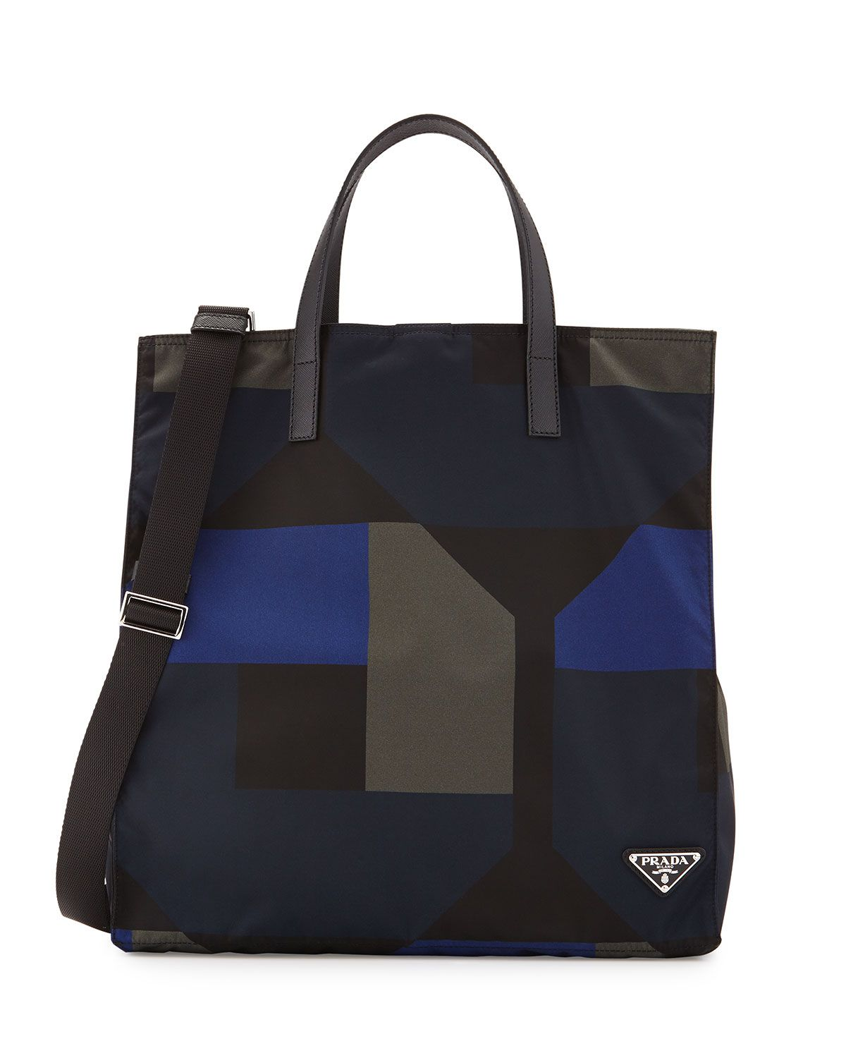 a72e5d91906a15 Men's Printed Nylon Tote Bag Black/Blue | *Neiman Marcus* | Nylon ...