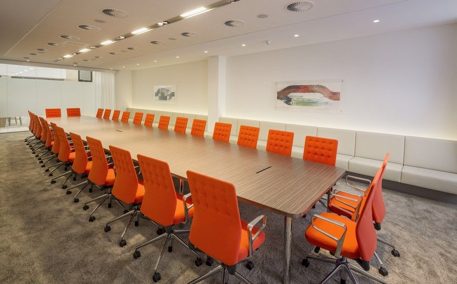 office orange. Colorful BarentsKrans Meeting Room With Long Table And Orange Chairs Finished Modern Furniture Design Ideas Office N