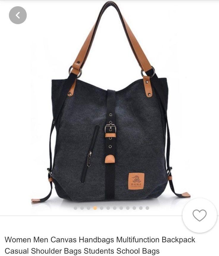 f56d33db76 Casual Canvas Bag Women Stylish Simple Handbag Large Capacity  Multifunctional Hobo Bag Ladies Fashion Soft Simple Shoulder Bag