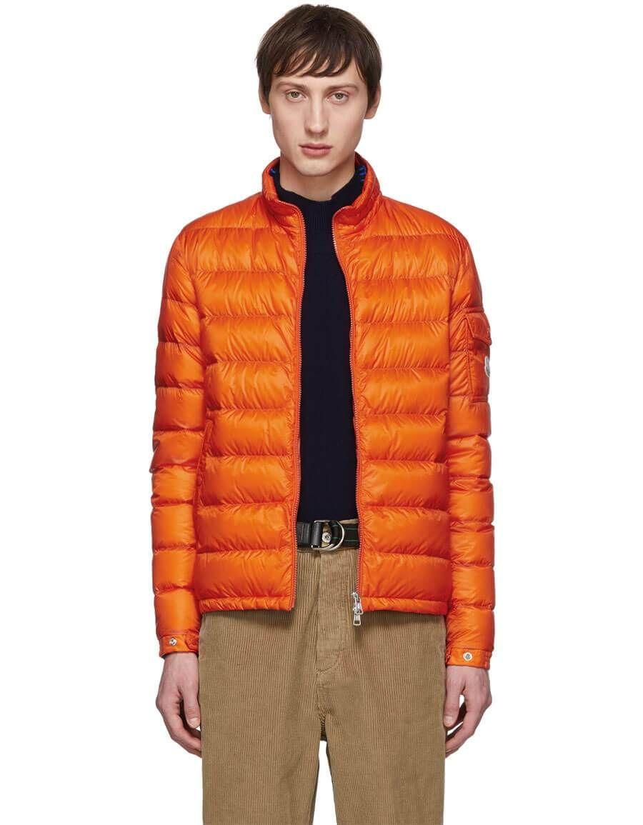 d079328b h3>MONCLER</h3> Orange Down Lambot Jacket | Men Clothing | Jackets ...