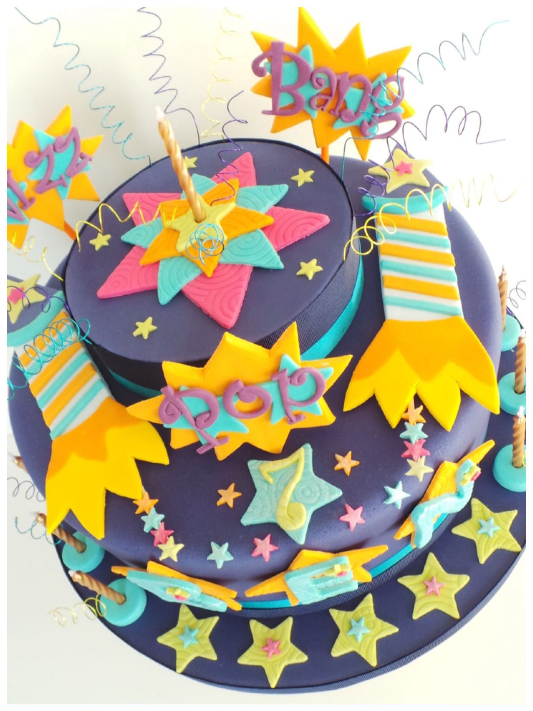 fourth of july fireworks cake Fireworks cake Cake and Birthdays