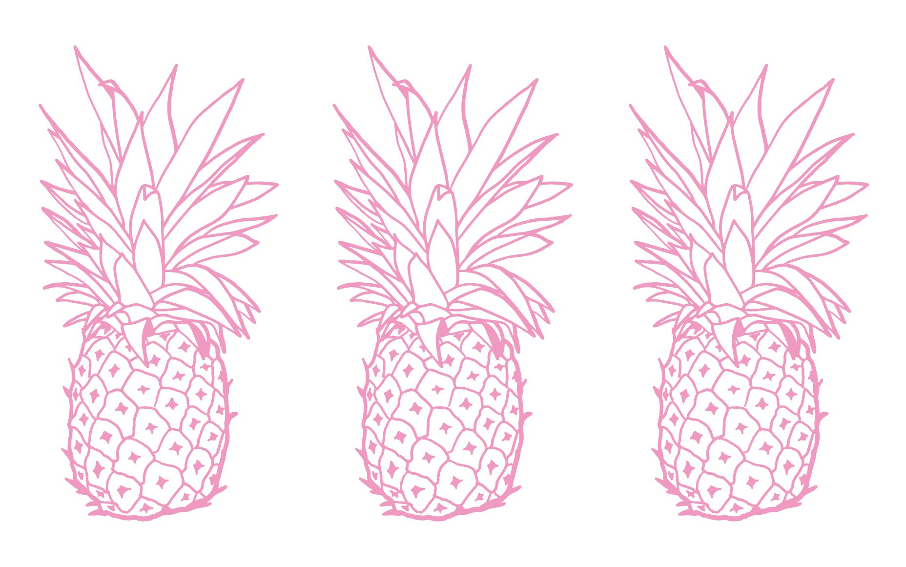 Pink white pineapples desktop Wallpaper background