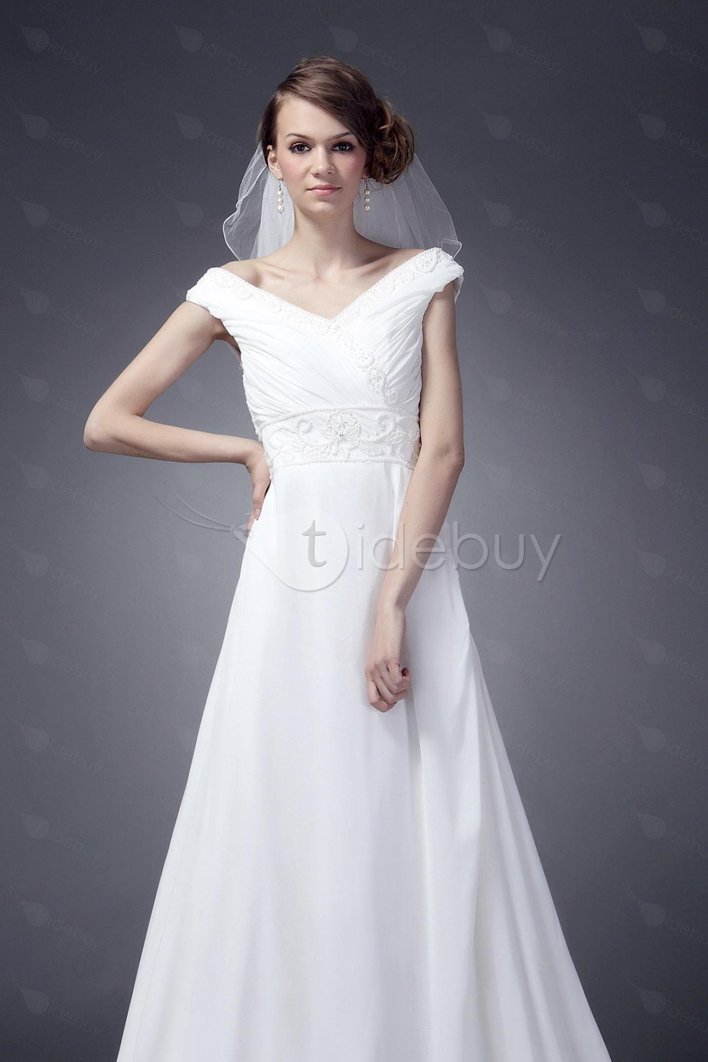 Concise ALine/Princess VNeck Chapel Nancy's Bridal Gown