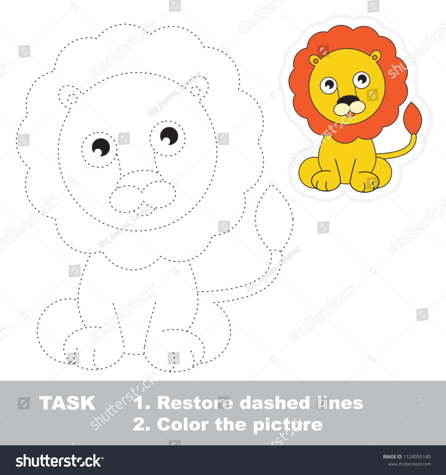 Lion Dot To Dot Educational Game For Kids Ad
