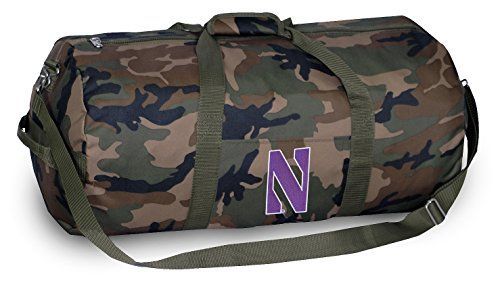 Northwestern Camo Duffel Bag NU Wildcats Camouflage Duffle for Travel Gym  Luggage Broad Bay http  31f47e9ac6ba2
