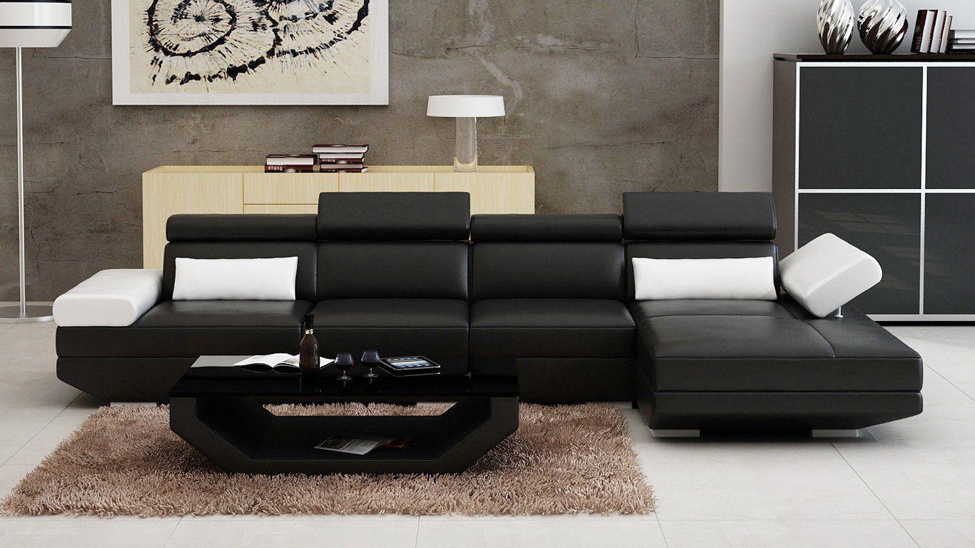 Luxury modern gwen sc leather sofa lounge set products