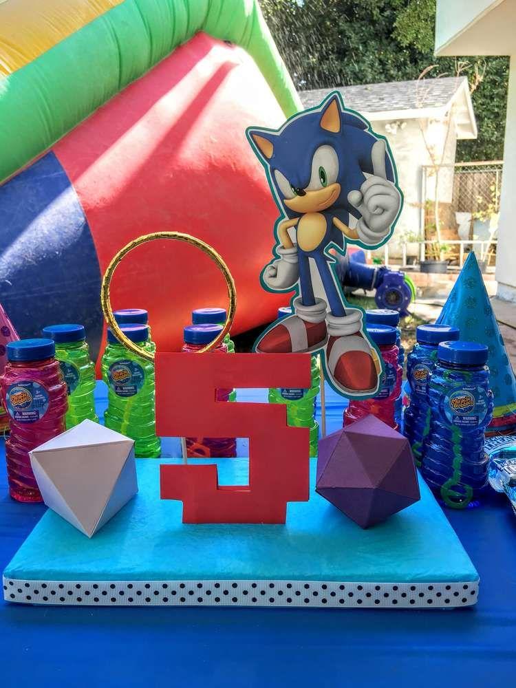 Decoración para fiesta de Sonic http//tutusparafiestas