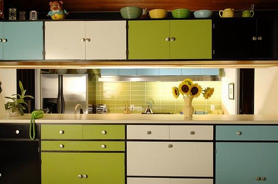 Multi Colored Kitchen Cabinets Ideas Kitchen Kitchen Cabinet