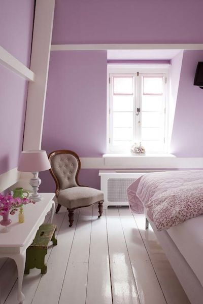 Best Lavender Walls With White Painted Floors Dormitorios 400 x 300