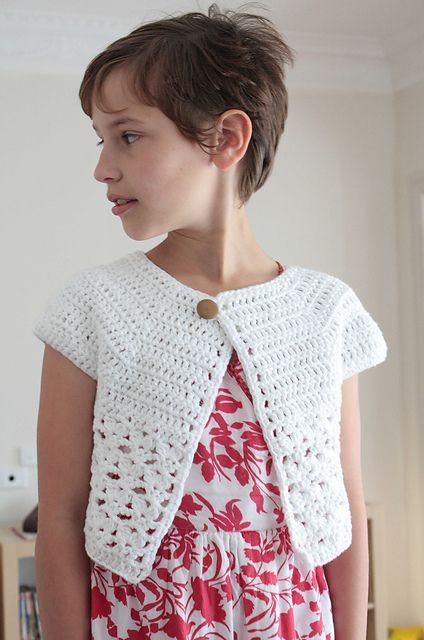 Bebop / Urban Girl Cropped Cardi pattern by Lion Brand Yarn
