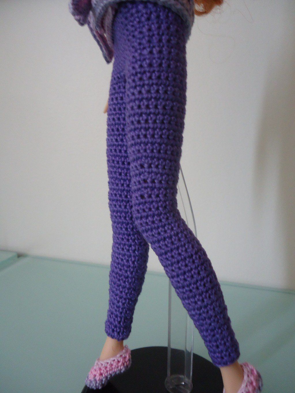 This hub is a free crochet pattern for Barbie Basic Leggings ...