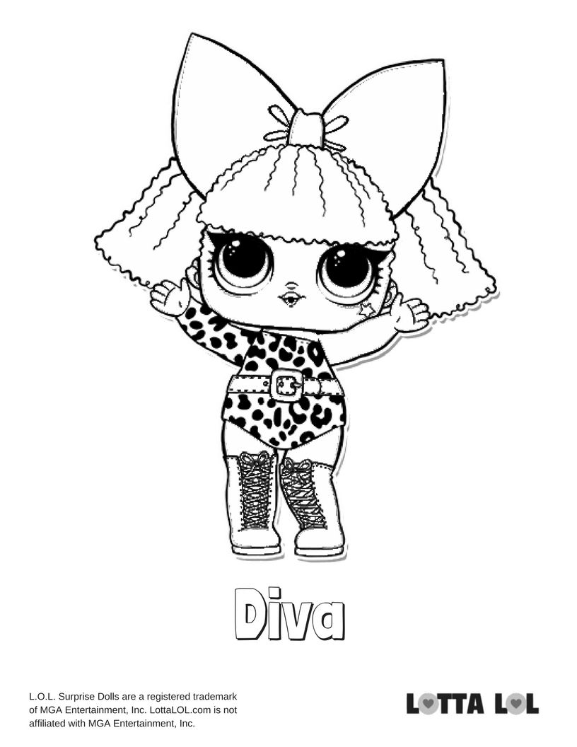 Diva Coloring Page Lotta Lol Lol Dolls Coloring Pages Coloring