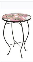 Poppy Round Table Red Floral