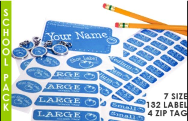Label Daddy Back to School Combo Pack Labels Don't let