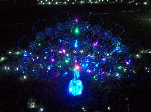 Gemmy Lightshow LED Sparkle Peacock Outdoor Christmas Yard